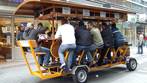 Beerbike_on_street